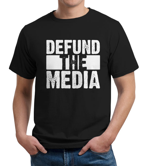 Defund The Media T-Shirt - FiveFingerTees