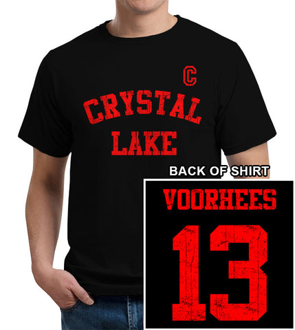 Crystal Lake Voorhees Jersey T-Shirt - FiveFingerTees