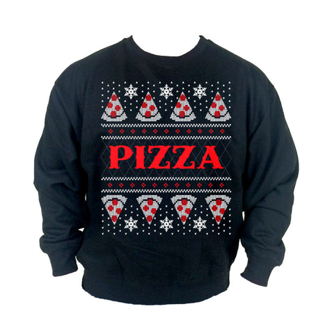Pizza Ugly Christmas Crew Neck Sweatshirt