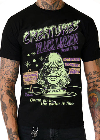 Creature's Black Lagoon Resort & Spa Men's Tee