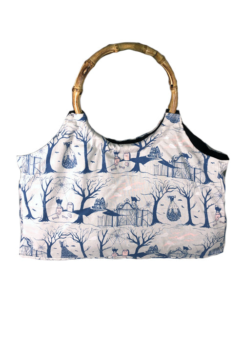 creepy hollow bamboo handbag - pinky star