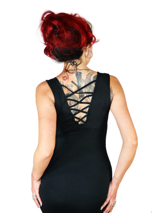 Gorgeous Chaos Cross BackDress