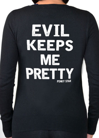Evil Keeps Me Pretty Cardigan