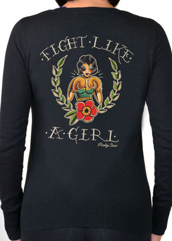 Fight Like A Girl Cardigan