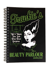 frankie's beauty parlour notebook - pinky star