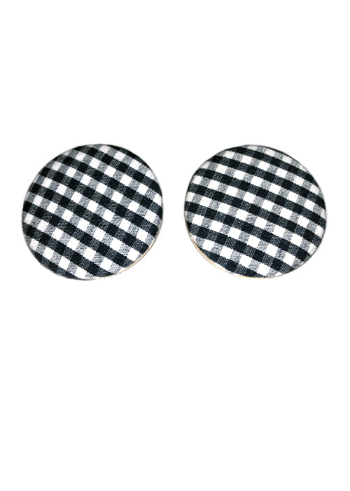 Retro Gingham Earrings