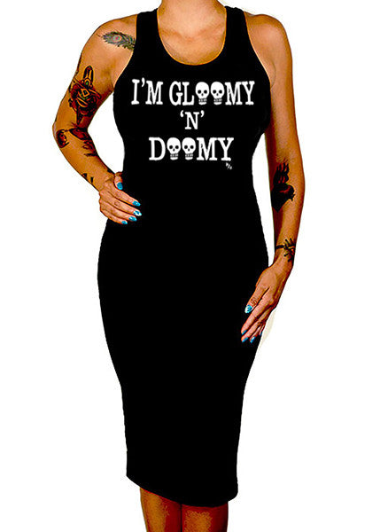 gloomy and doomy tank dress - pinky star