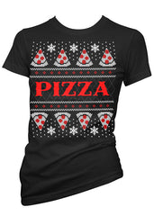 Pizza Ugly Christmas Sweater Tee