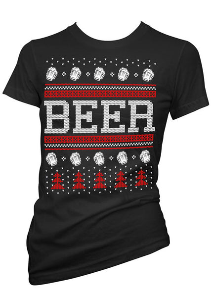 Beer Ugly Christmas Sweater Tee