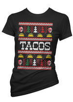 Tacos Ugly Christmas Sweater Tee