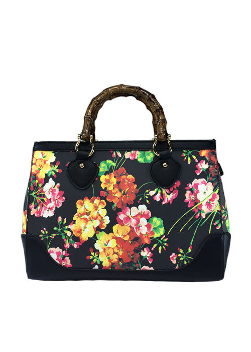 burst of flowers handbag - pinky star