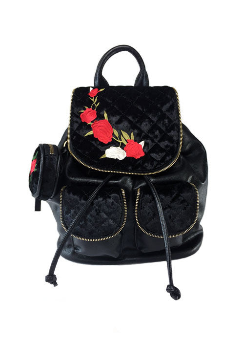tattooed rose backpack - pinky star
