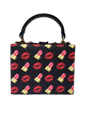 Lipstick Kisses Box Purse