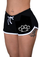 Brass Knuckle Bettie Shorts - pinky star