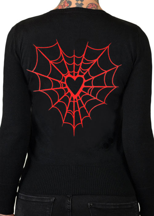 Heart web Cardigan