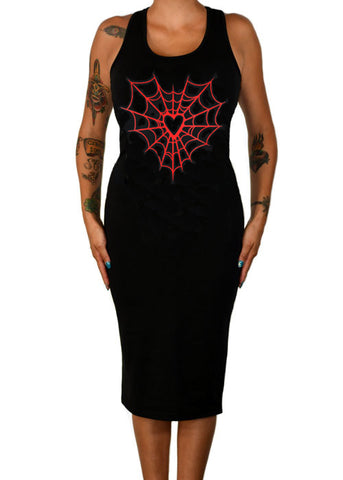 Heart Web Tank Dress