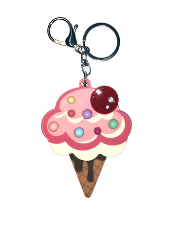 Ice Cream Purse and Key Pendant
