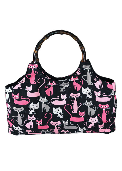 kitty brigade bamboo purse - pinky star