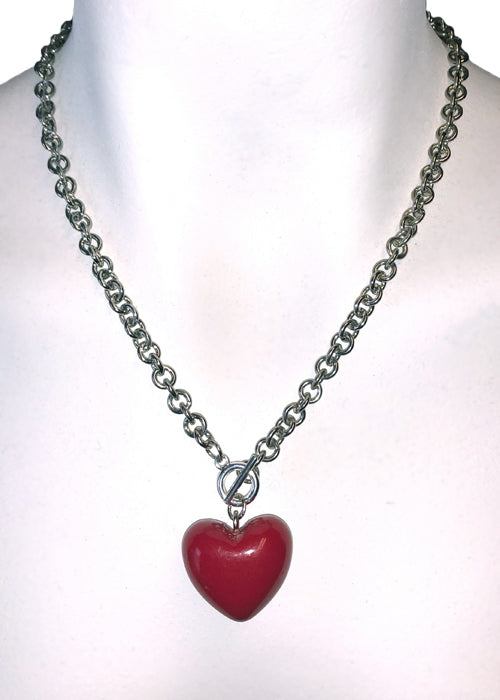 Mini Chained Heart Necklace