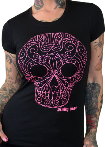 The Quilted Sugar Skull Tee