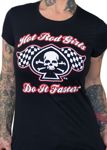 Hot Rod Girls Do It Faster Tee