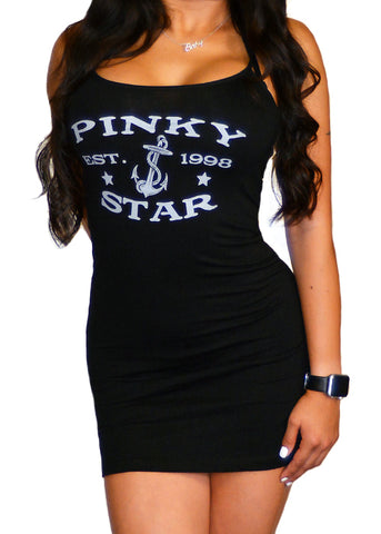 Pinky Star Anchor Cami Tank Dress
