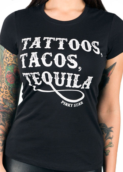 Tattoos Tacos Tequila Tee