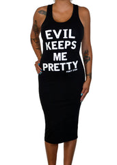 Evil Keeps Me Pretty Tank Dress
