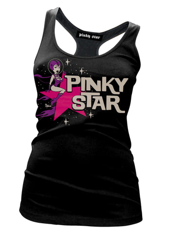 Pinky Star Space Girl Tank Top