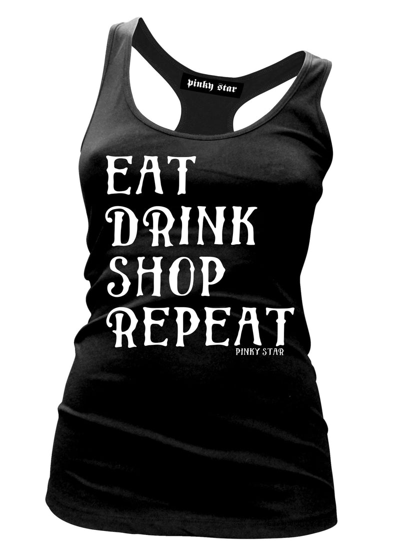 Eat Drink Shop Repeat Tank Top