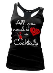 Love And Cocktails Tank Top
