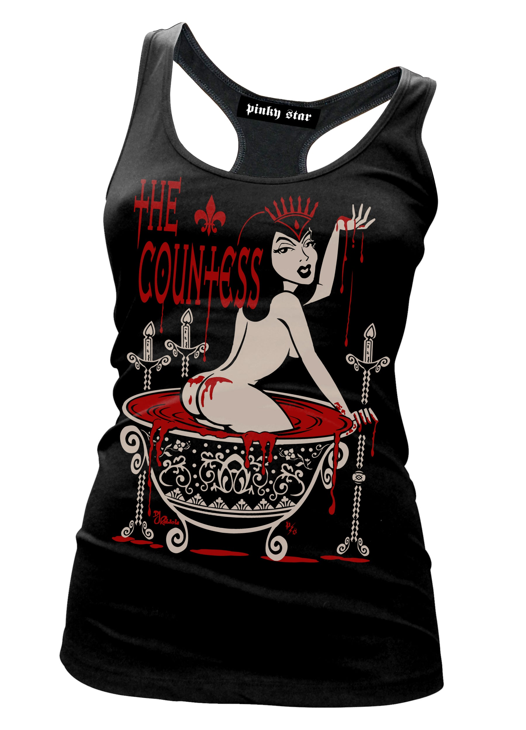 The Countess tank top - Pinky Star