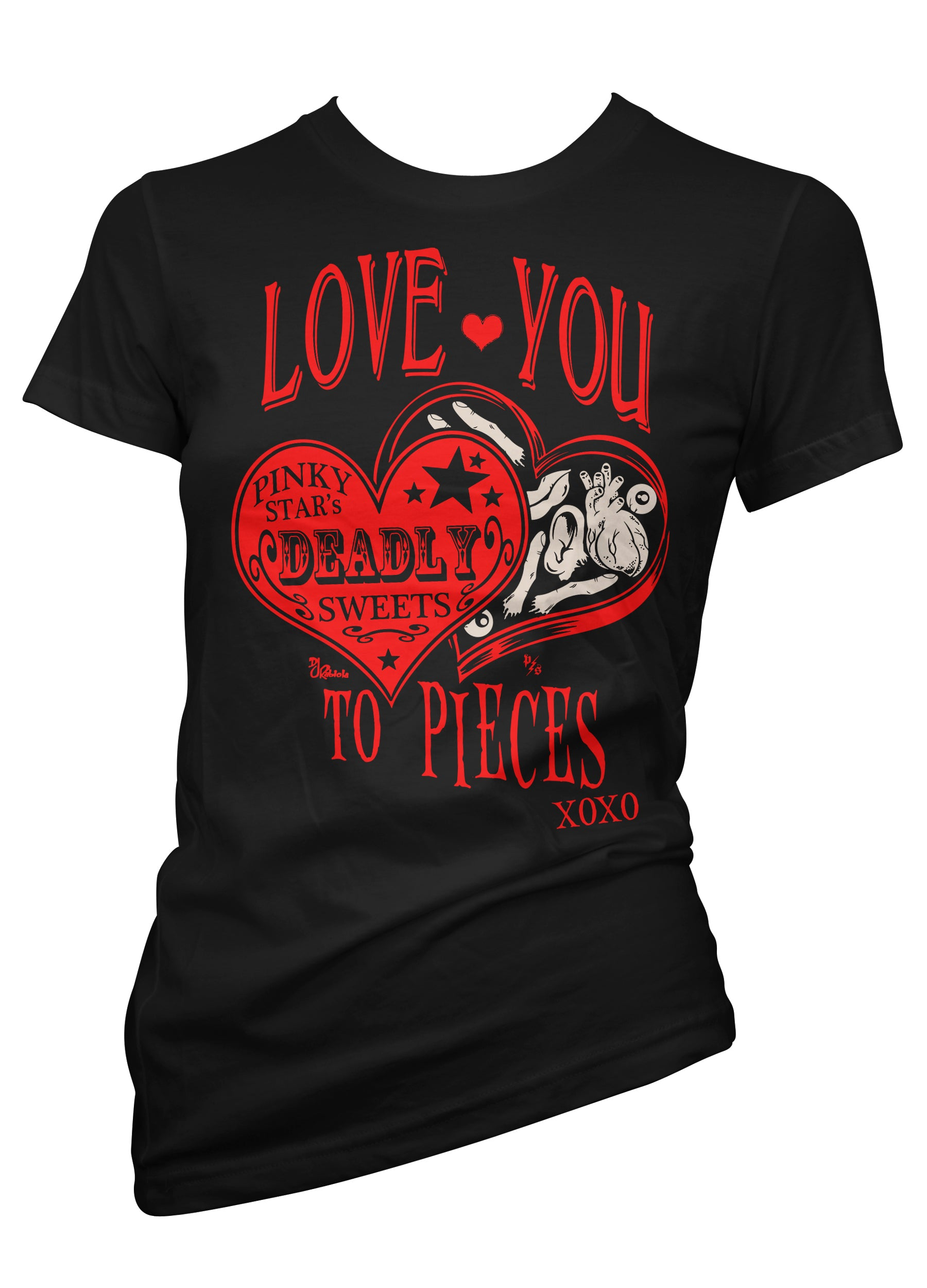 love you to pieces deadly treats candy - pinky star