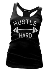 hustle hard tank - pinky star