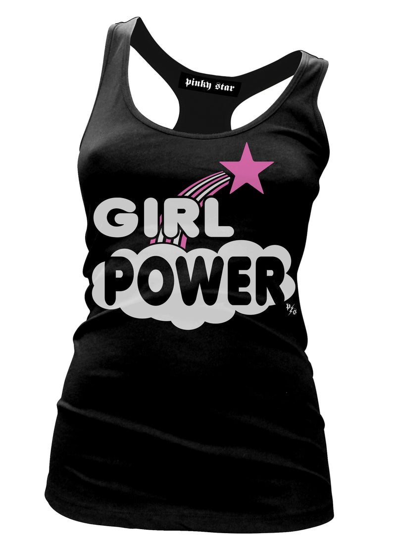 Girl Power Star Racerback Tank Top -pinky star