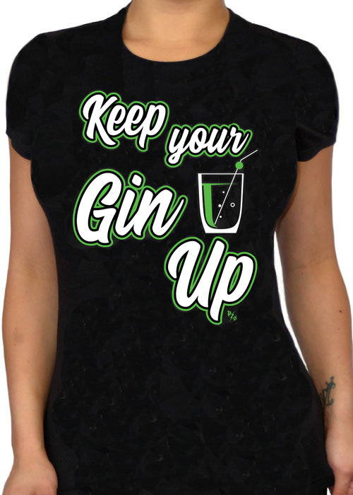 keep your gin up - pinky star - cocktail tee