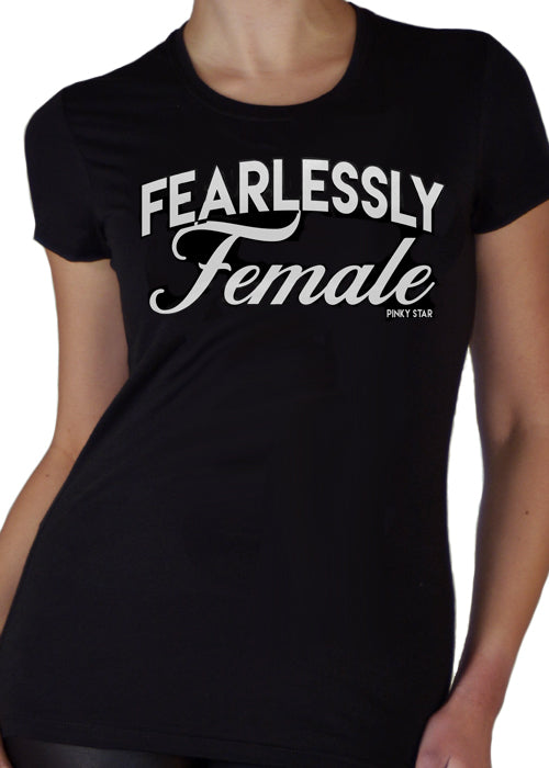 fearlessly female tee - pinky star