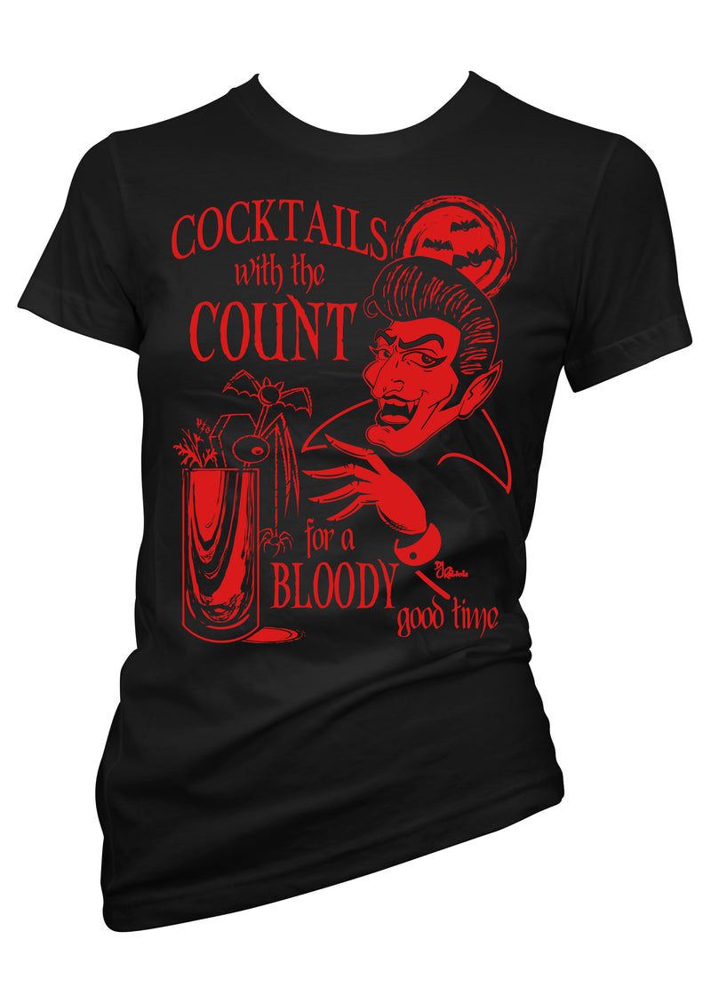 cocktails with the count - pinky star - monster tee
