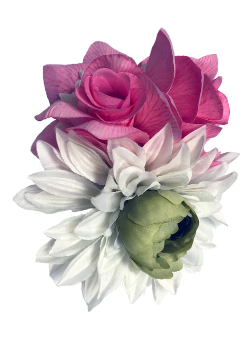 flower hairclip - pinky star