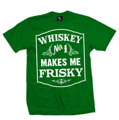 whiskey makes me frisky tee - pinky star