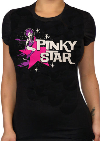 Pinky Star Space Girl Tee
