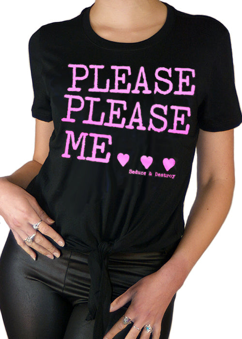 Please Please Me Cropped Tie Tee