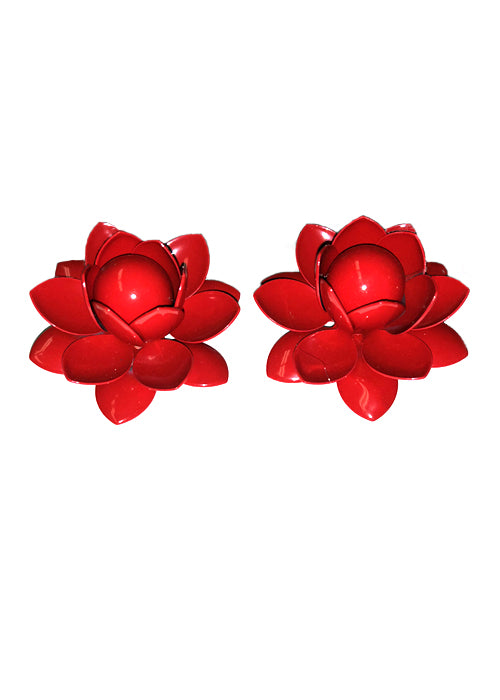 Retro Inspired Flower Earrings