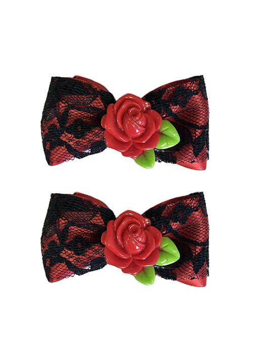 red rose bows - pinky star