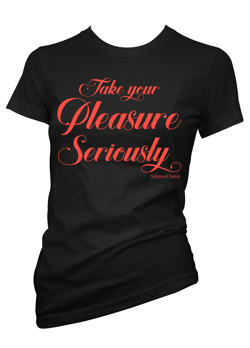 seduce and destroy take your pleasure seriously tee