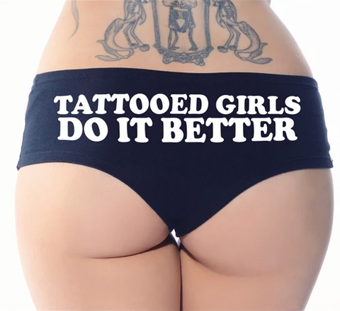 Tattooed Girls Do It Better Black Booty Shorts