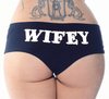 wifey black booty shorts - cartel ink - pinky star