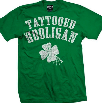 Tattooed Hooligan Men's Tee (green)