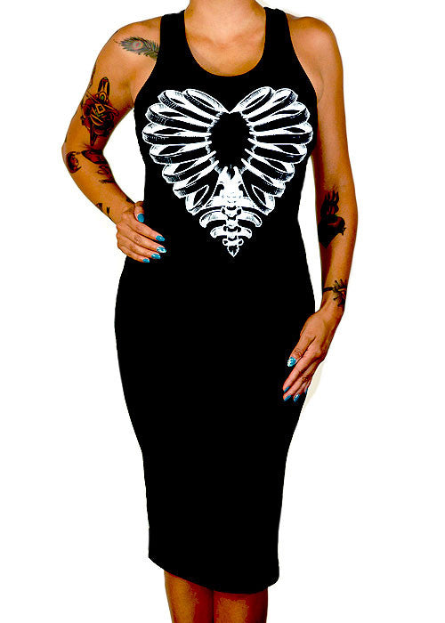Skeleton Heart Tank Dress