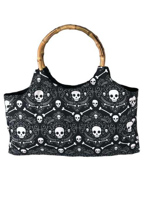 skully bamboo handbags - pinky star